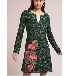 ANTHROPOLOGIE Calliope Sequined Dress